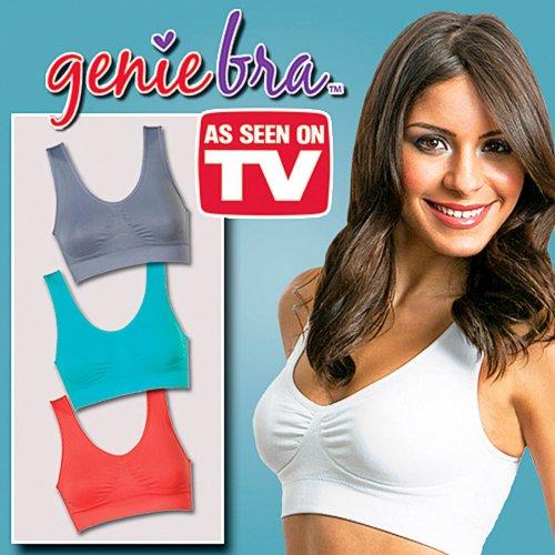 44c25356c12 Set of 3 As Seen on TV Pastel Color XXXLarge Genie Bra Reviews