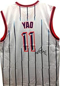 Yao Ming Autographed Signed Replica Reebok NBA Houston Rockets Rookie Jersey by Reebok