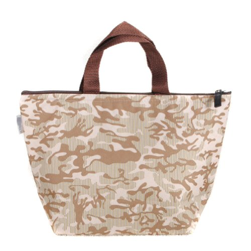 OOOUSE Waterproof Picnic Lunch Bag Tote Insulated Cooler Travel Zipper Organizer Box,Khaki - 1