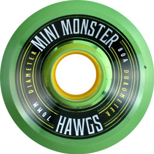 Hawgs Mini Monster 80a 70mm Clear.green Skate Wheels (Hawgs Mini Monster compare prices)