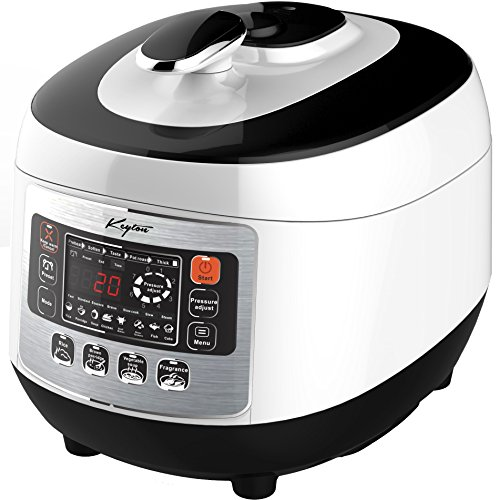 Pressure Cooker with Digital Display, 5 Liter - 8 in 1 Multiple Cooking Options - Includes Measuring Cup, Rice Paddle, Ladle & Steam Rack - By Keyton (Cheap Pressure Cooker compare prices)