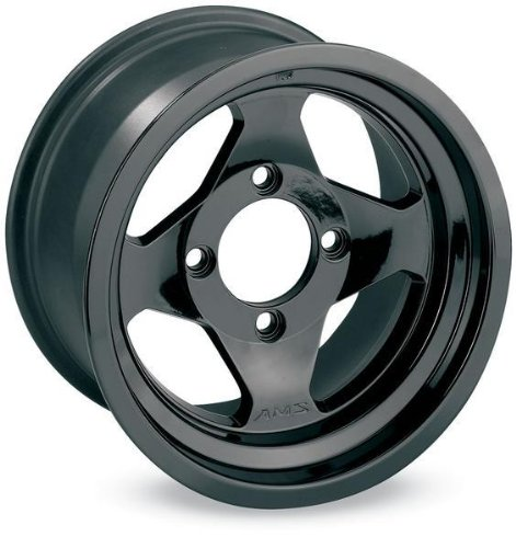 AMS Black Cast Aluminum Rear Wheel - 12x7, 4/110,