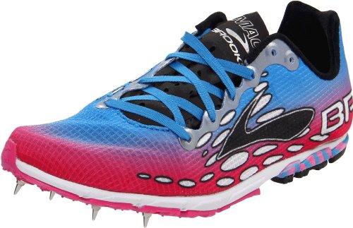 BROOKS Ladies Mach 14 Running Shoe, Blue/Red, UK9.5