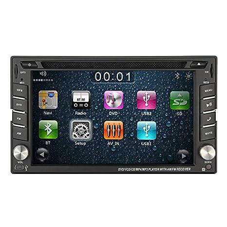 ?2016 Stereo GPS Navi HD Double 2DIN Lecteur DVD de voiture Bluetooth iPod MP3 Autoradio support AM / FM USB SD 2-DIN Car Multimedia Receiver 6.2-inch šŠcran tactile Lecteur DVD