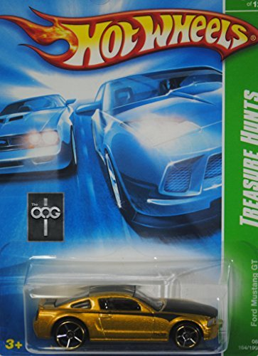 Hot Wheels Ford Mustang GT Gold 2008 Treasure Hunt Series 1:64th Scale Die Cast Collectible Car - 1