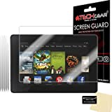 TECHGEAR 2013 Edition/ 3rd Gen 7 inch Clear LCD Screen Protectors with Cleaning Cloth for Amazon Kindle Fire HD, Pack of 5