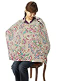 LiveBox Breast Feeding Baby Nursing Cover with Carrying Case (Grey/Flower)
