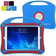 iPad Mini Case, VAKOO iPad Mini 3 2 1 Case Kids Proof Shockproof Drop Proof Soft Silicone Portable Light Weight Handle Case Cover for iPad Mini 3, iPad Mini Retina Display and iPad Mini (Blue/Red)