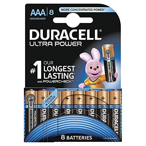 Duracell - Pile Alcaline - AAA x 8 - Ultra (LR03)