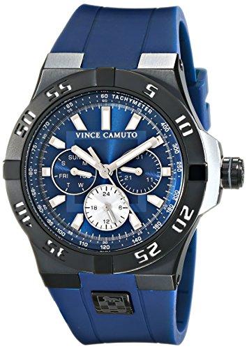 Vince Camuto VC/1010NVTI - Reloj unisex, correa de silicona color azul marino
