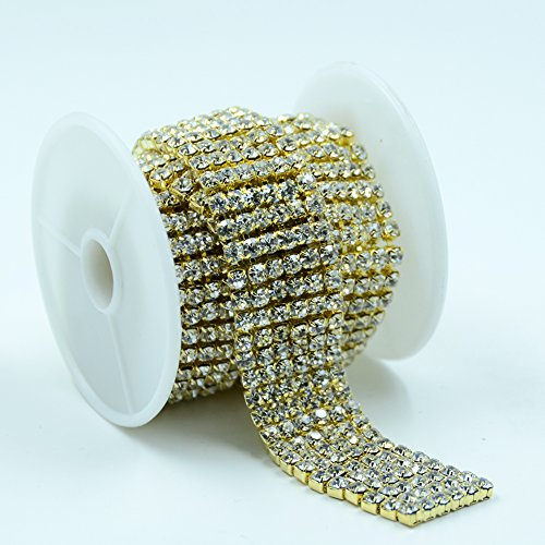 Big Save! Seasofbeauty Crystal Diamante Rhinestone Chain Banding Six Row Cake Decoration 1 Yard