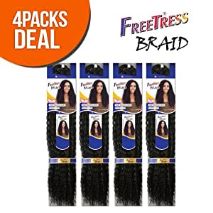 Crochet Hair Extensions Amazon : Amazon.com : FreeTress Synthetic Hair Crochet Braids Water Wave Bulk ...