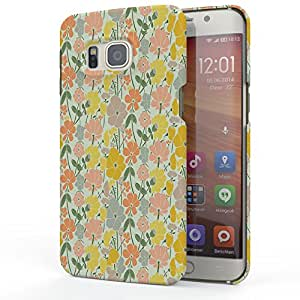 Koveru Designer Printed Protective Back Shell Case Cover for Samsung Galaxy S6 Edge Plus - Yellow flower Abstract