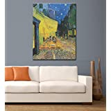 Tallenge Old Masters Collection - The Cafe Terrace On The Place Du Forum By Vincent Van Gogh - Large Size Premium...