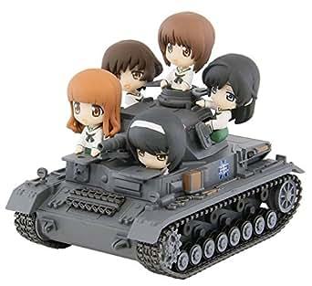 ガールズ&パンツァー IV号戦車D型 エンディングVer. ノンスケール全長約90mm フィギュア5体付 塗装済完成品 PD11