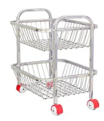 vpsk vegetable and fruit trolly , 2 stand , 19 inch
