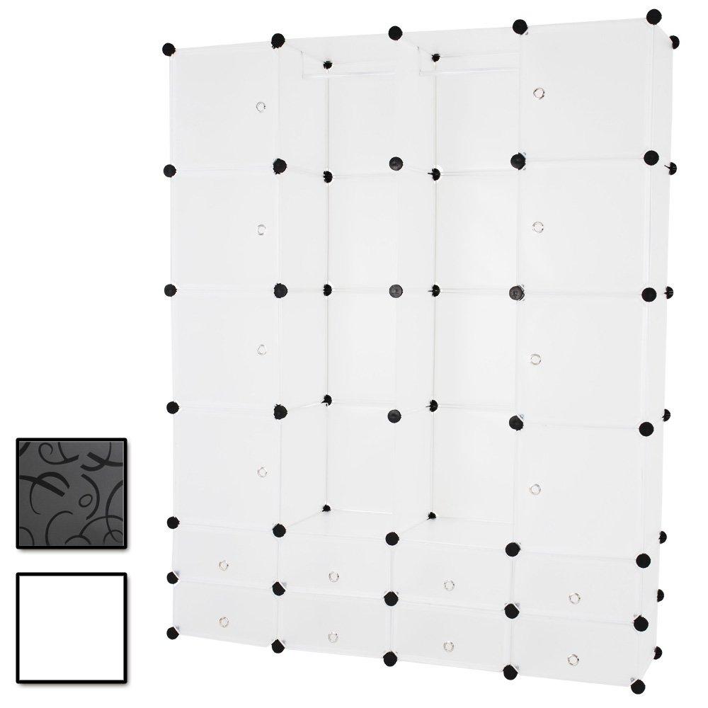 Kleiderschrank Wäscheschrank großzügiger Schrank mit 18 Fächern B/H/T: ca. 145/180/37 cm online bestellen