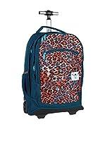 Chiemsee Mochila trolley Wheely (Azul / Leopardo)