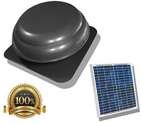 25 Watt USA Stock Solar Powered Attic Fan Solar Venting Stainless Steel Solar Roof fan Vent (Solar Fan Roof compare prices)