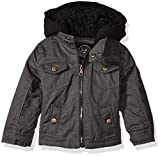 Urban Republic Boys' Infant Peached Cotton Jacket, Dark Charcoal, 18 Months