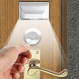 KJLARS LED Türbeleuchtung Türschlüsselloch mit Bewegungsmelder Batteriebetrieben kaltweißes Licht