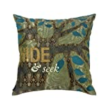 Blissliving Home Hide and Seek Green 18 by 18 Inches