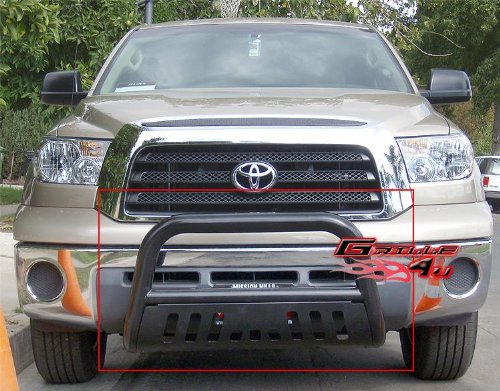 APS BB-TAK024B Black Bull Bar Bolt Over for select Toyota Tundra Models (Toyota Tundra Black Bumpers compare prices)