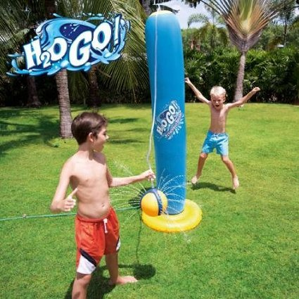H2OGO! Fun, Durable, Colorful, Inflatabe Swimming Pool Floats and Games Tether Ball for Kids/Toddlers