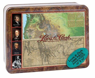 Puzzle Tin Lewis and Clark Special Edition Jigsaw Puzzle 1000pc