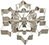 "Ateco 14429 Large Snowflake Cookie Cutter, Stainless Steel, 8"" diameter"