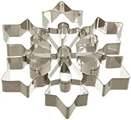 Ateco 14429 Large Snowflake Cookie Cutter, Stainless Steel, 8\