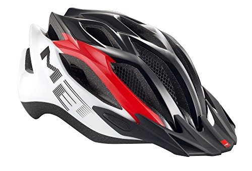 Caschetto da bici MET Crossover, Red/White/Black, 52-59 cm, 3HELM86UNRN