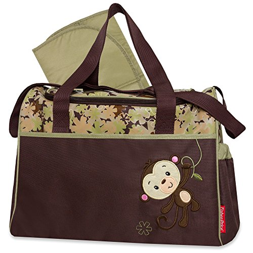 Fisher-Price Monkey Duffel Style Diaper Bag - 1