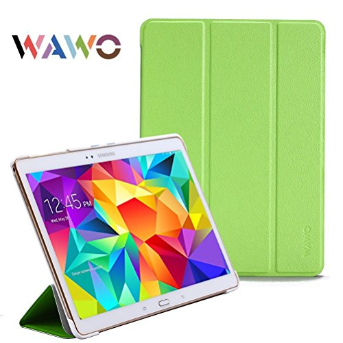 Wawo Creative Smart Tri-Fold Cover Case For Samsung Galaxy Tab S 10.5-Inch Tablet - Green front-998890