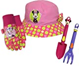Midwest Gloves and Gear MY14P05-EA-AZ-6 Minnie Mouse Garden Tool Set Combo Pack