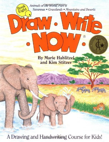 Draw Write Now, Book 8: Animals of the World, Dry Land Animals (Draw-Write-Now) (Draw Write Now 4 compare prices)