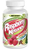 Raspberry Ketones by Just Potent. All-Natural Weight Loss Supplement with African Mango, Green Tea, L-Carnitine :: 60 Capsules