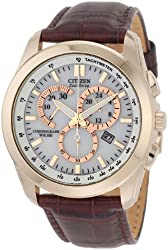 Citizen Eco-Drive Chronograph White Dial Mens Watch - AT1183-07A -24 cm