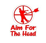Aim For The Head Decal Fuuny Zombie HIT THE SPOT TOILET Potty SEAT Boys Training (Come With Zombie Hunter Permit Decal)