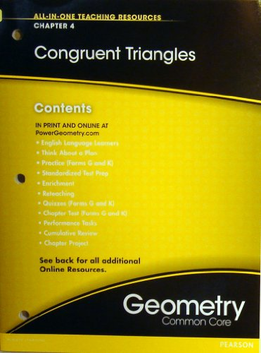 Congruent Triangles Chapter 4 (All-In-One Teaching Resources Geometry Common Core)