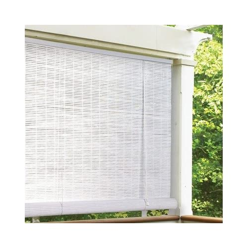 Radiance 032 1 4 Oval Vinyl PVC Roll Up Blinds In White