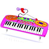 Kids Authority 37 Keys Standard Kids Keyboard / Piano With Microphone - Pink