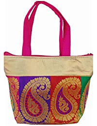Ladies Fancy Purse Multi Canvas Tote Bag By ALIVE - B0714HGVBD