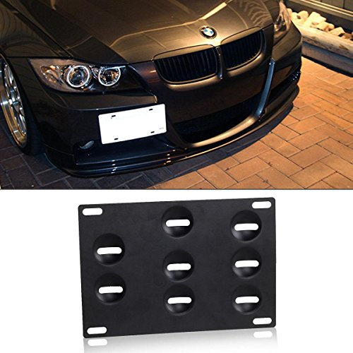 Partsam Front Bumper License Plate Mounting Bracket Tow Hook Holder Adapter for BMW E31 E36 E38 E39 E46 E52 MINI Coopers (Mini Cooper Front License Bracket compare prices)
