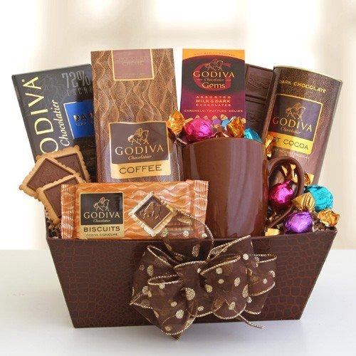 California Delicious Godiva Coffee House Gift Basket