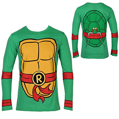 Teenage Mutant Ninja Turtles Raphael Costume Longsleeve Adult T-Shirt