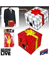 SNL Dick in a Box Wearable Gift Box Costume Set of 2