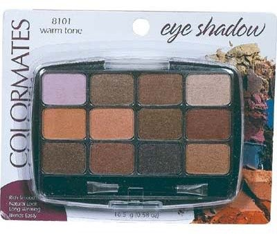 Pan Eyeshadow 12 Color Warm To Case Pack 6 (Stella Rose Red Wine compare prices)
