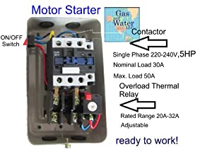 wiring diagram for 3 phase motor starter images magnetic electric motor starter control 5 hp single phase 220 240v 20
