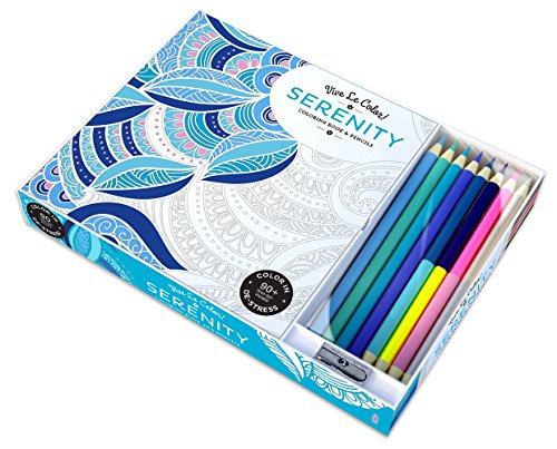Vive Le Color! Serenity: Coloring Book and Pencils